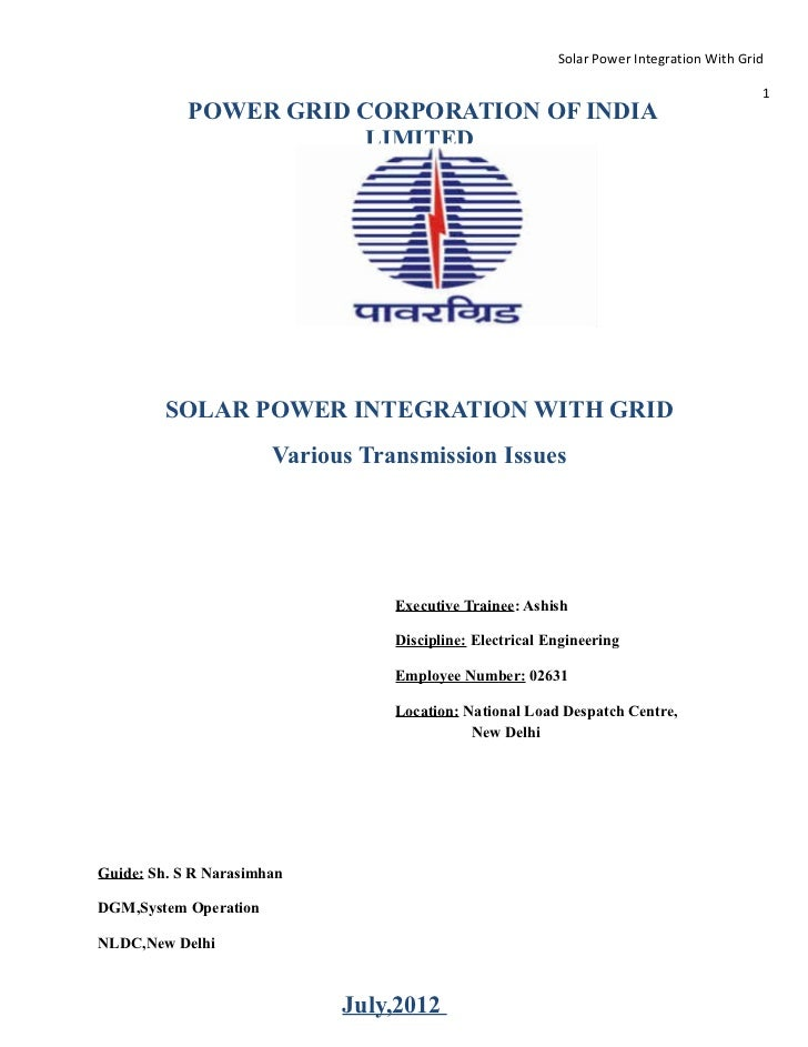 Solar Power Integration With Grid                                                                                         ...