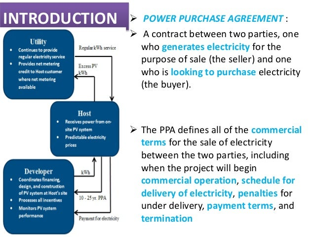 Power Purchase Agreements Power Purchase Agreement Ppa Shams – Commercial Purchase Agreement