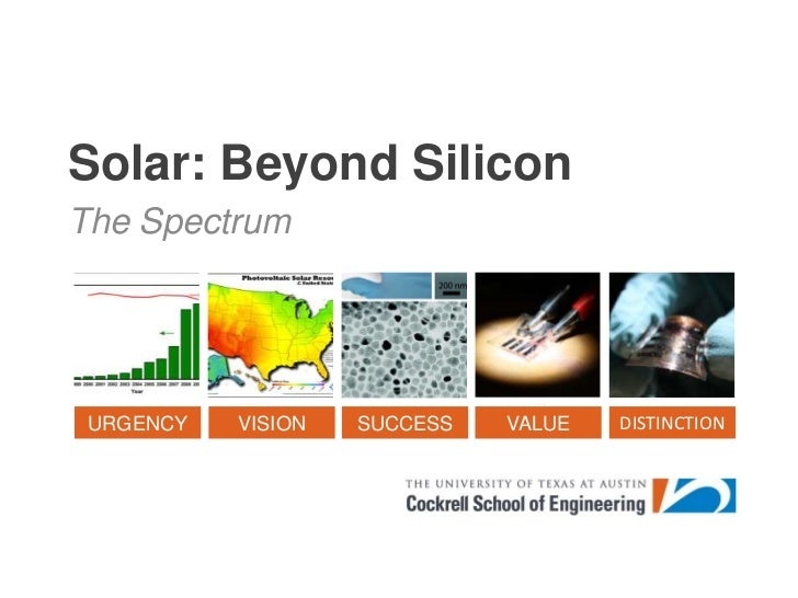 Solar: Beyond Silicon<br />The Spectrum<br />