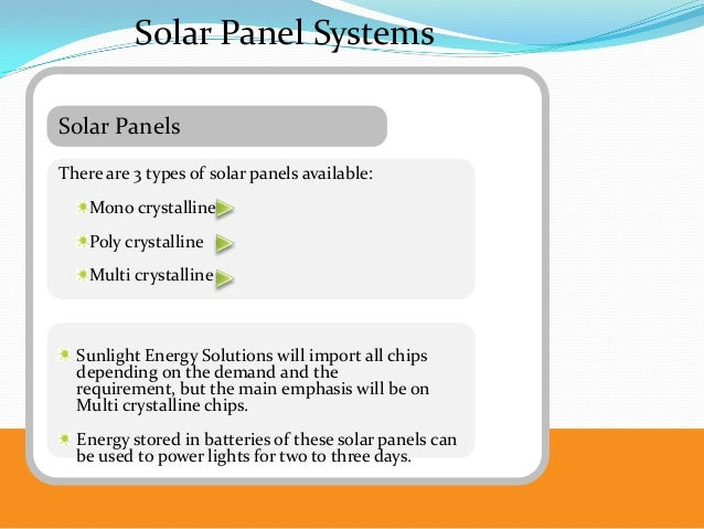Solar Energy and Solar Panels Business Plan