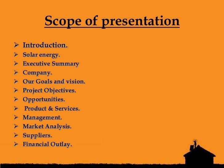 Solar system business plan