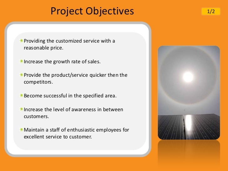 Solar product business plan