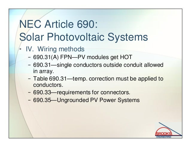 Solar PV Codes and Standards on