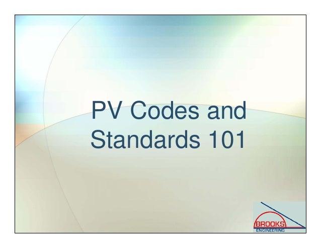 Solar PV Codes and Standards Slide 3
