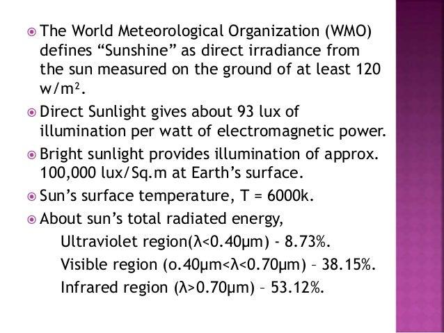 Solar radiation -  Slide 2