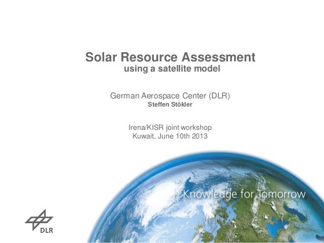 Solar resource assessment using a satellite model