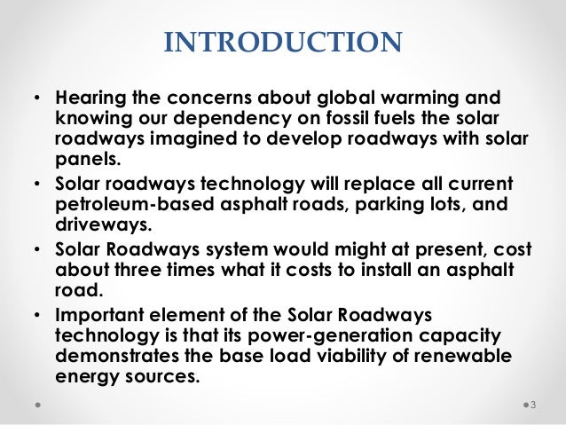 Solar Roadways Presented By Rk