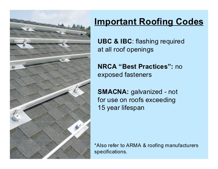 Solar Roofing Best Practices Dec 2010