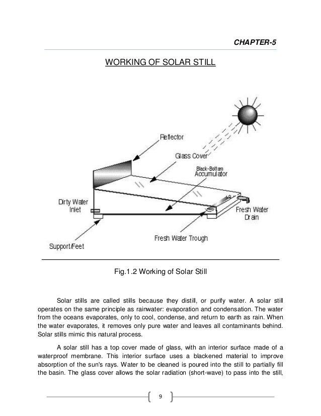 Solar still project