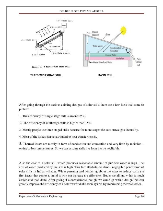 Solar still project report