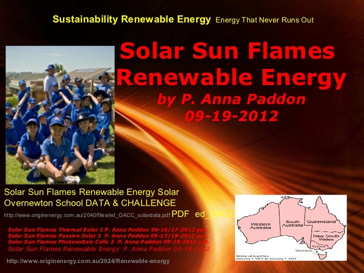 Sustainability Renewable Energy                          Energy That Never Runs Out                                     So...
