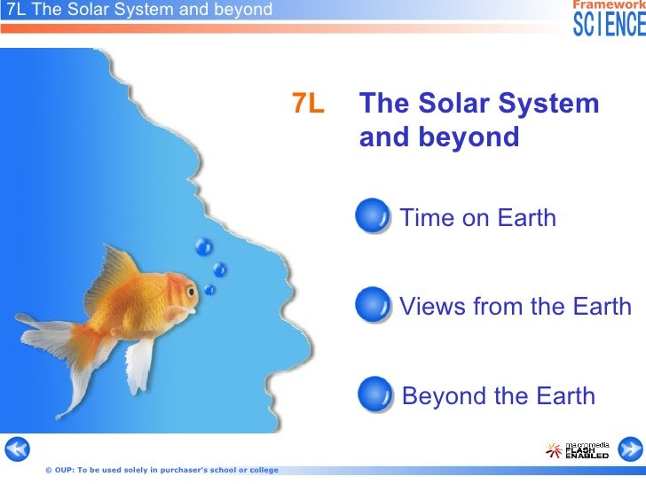 7L The Solar System and beyond Time on Earth   Views from the Earth   Beyond the Earth  7L The Solar System and beyond