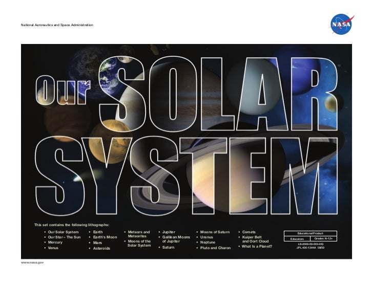 National Aeronautics and Space AdministrationNational Aeronautics and Space Administration        This set contains the fo...