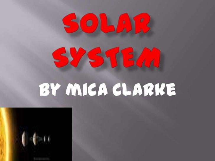 By mica Clarke