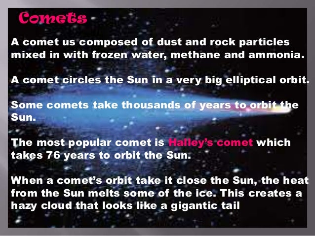An analysis of the characteristics of halleys comet in our solar system