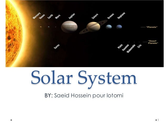 Solar system (simple definition)