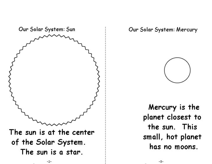 free printable solar system booklet - photo #1