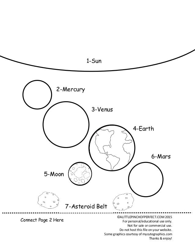 Solar System Coloring Page CALITTLEPINCHOFPERFECTCOM 2015 For Personal Educational Use Only