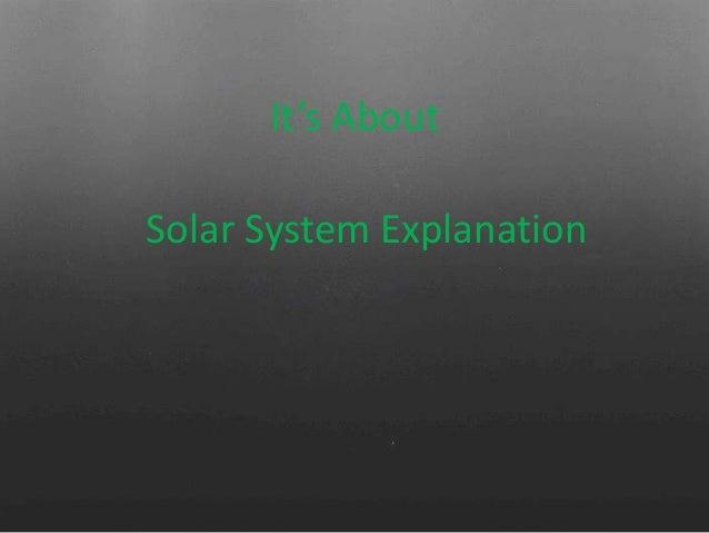 Presentasi Sistem Tata Suryaㅡsolar System Explanation