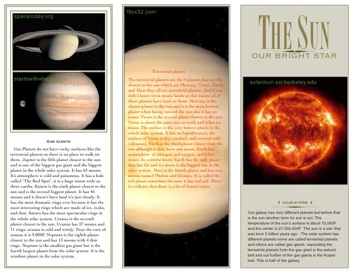 Planet Jupiter Brochure Project - Pics about space