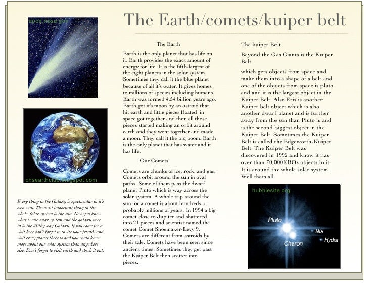 Solar System Brochures Sample - Pics about space
