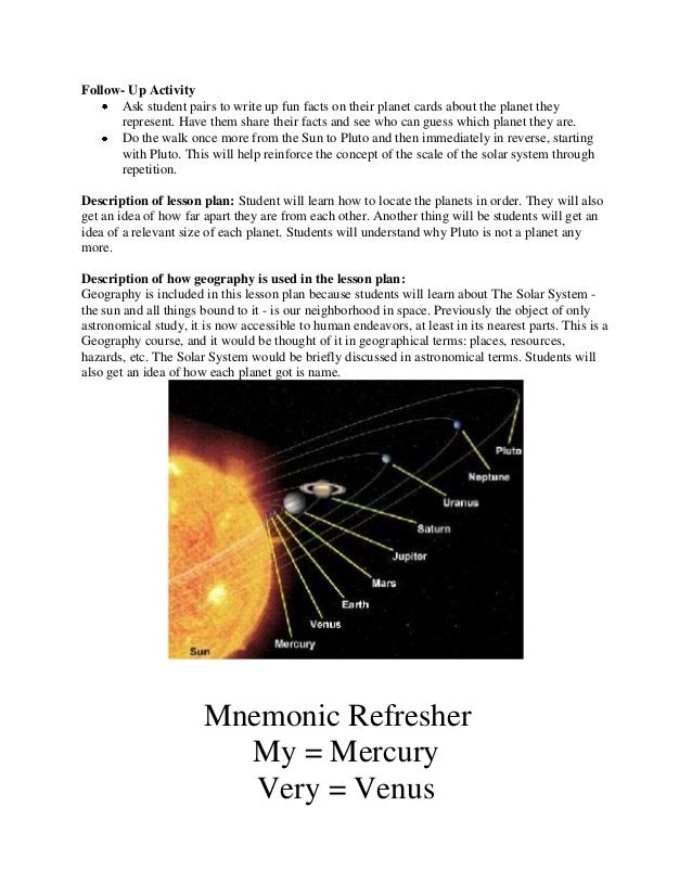write about solar system