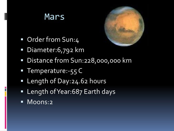 what is mars distance from the sun in miles
