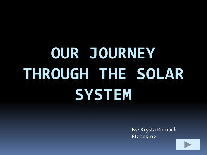 OUR JOURNEY THROUGH THE SOLAR      SYSTEM            By: Krysta Kornack            ED 205-02