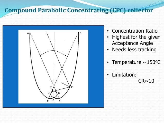 Solar Collector Concentration Ratio Of Solar Collector