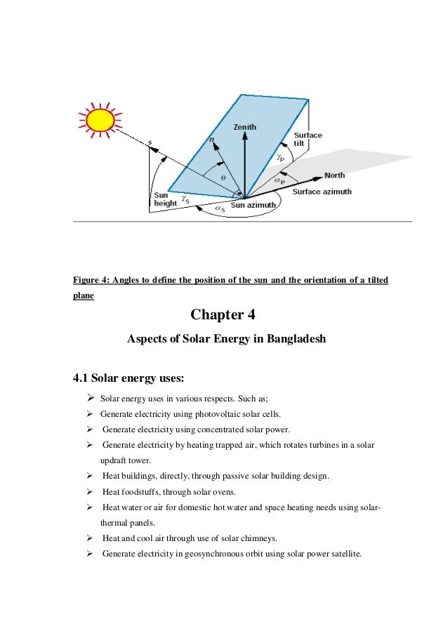 Solar radiation thesis