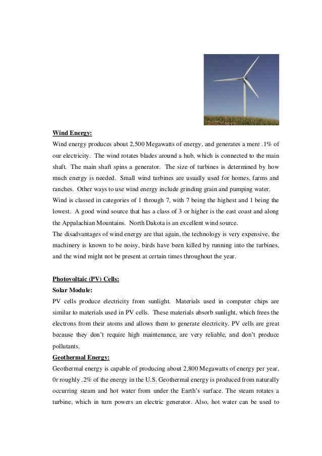wind power research papers Research the future of solar energy   (pv) and concentrated solar power (csp), sometimes called solar thermal) — in their current and plausible future forms.