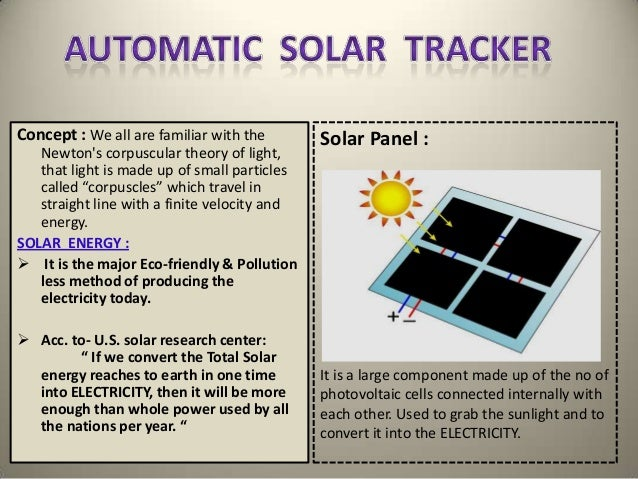 Solar tracking system |authorstream.