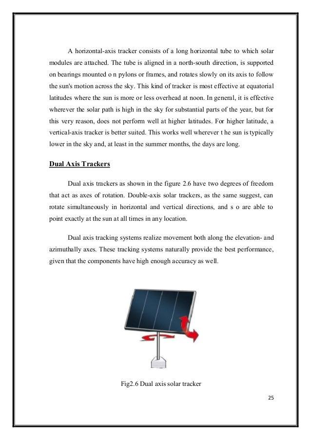 DUAL AXIS SOLAR TRACKER USING LDR AS A SENSOR