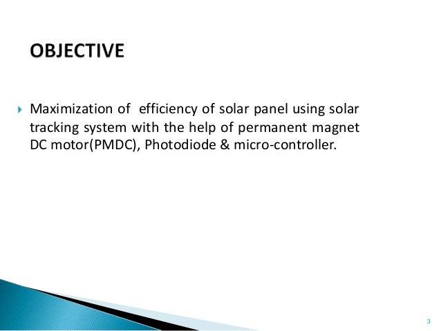 Solar tracker using pmdc motor