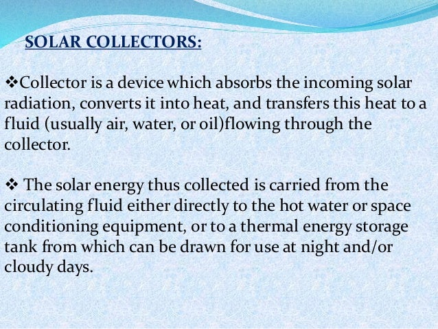 Solar flat plate collector Slide 3