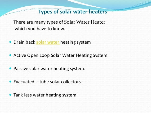 Beautiful Types Of Water Heating Systems Images