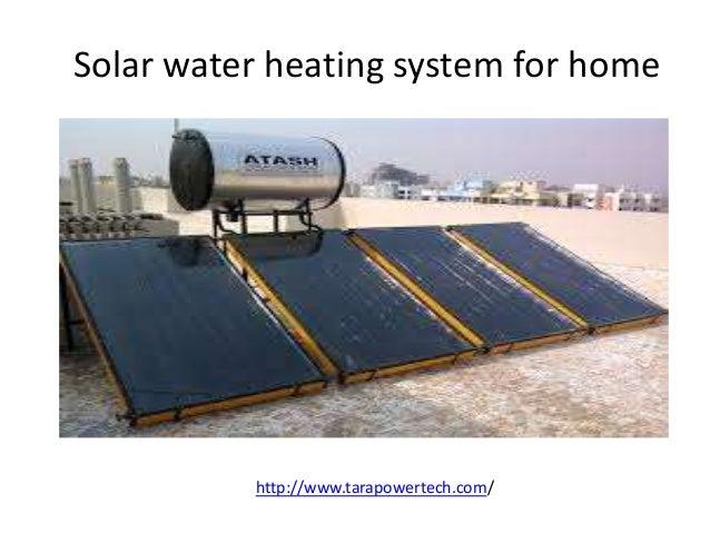 Solar Water Heating System For Home Http://www.tarapowertech.com/ ...