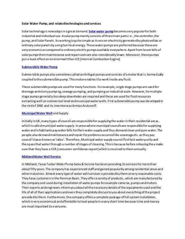 Solar Water Pump,and relatedtechnologiesandservices Solartechnologyisnowadaysinagreat demand.Solarwater pumpbecomesverypop...