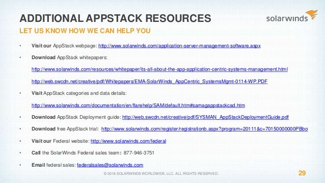 SolarWinds Federal Webinar - Maximizing Your Deployment with Appstack…