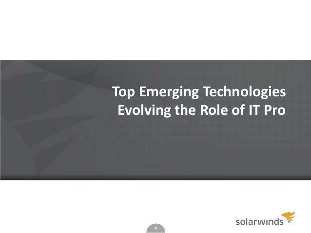 Top Emerging Technologies Evolving the Role of IT Pro  4