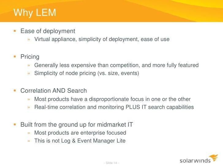 Log & Event Management on the IBM® i: Solarwinds® Log