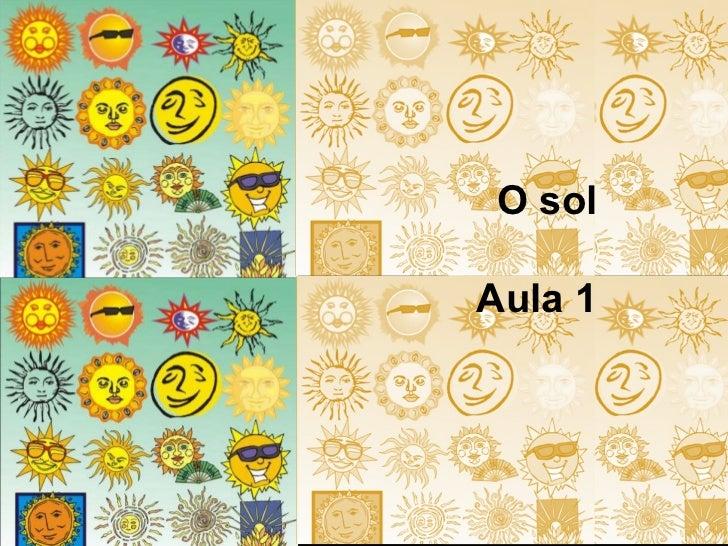 O sol Aula 1