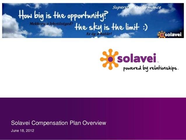 Solavei Compensation Plan OverviewJune 18, 2012