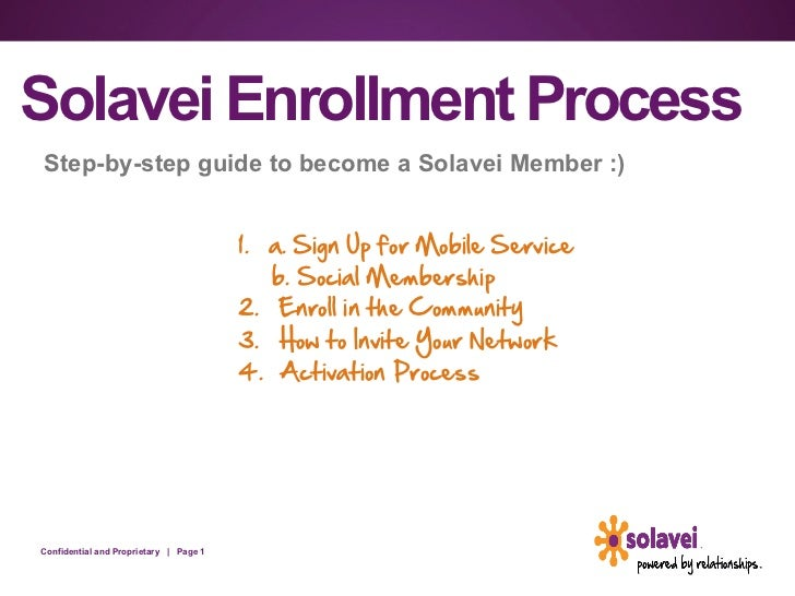 Solavei Enrollment ProcessStep-by-step guide to become a Solavei Member :)                                        1. a. ...