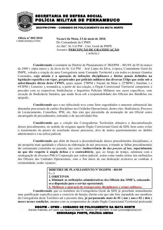 SECRETARIA DE DEFESA SOCIALPOLÍCIA MILITAR DE PERNAMBUCODGO/PM-CPMN – COMANDO DE POLICIAMENTO DA MATA NORTENazaré da Mata,...