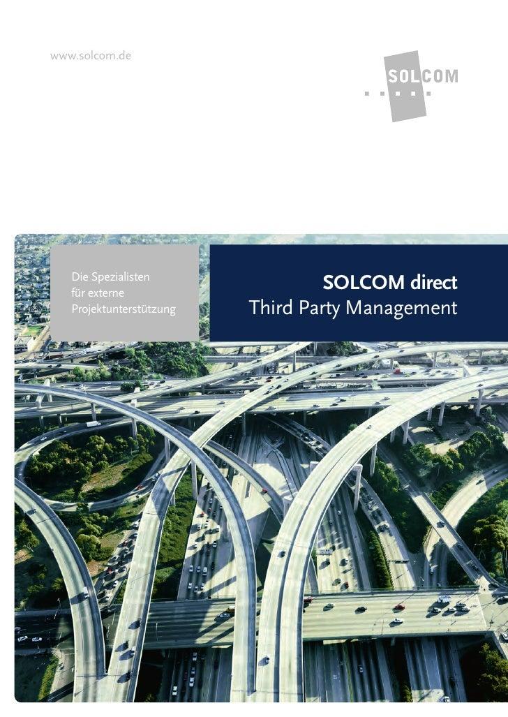 www.solcom.de   Die Spezialisten   für externe                                   SOLCOM direct   Projektunterstützung   Th...