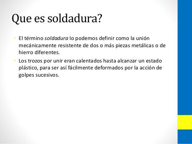 Soldadoras bp presentacion for Que es soldadura