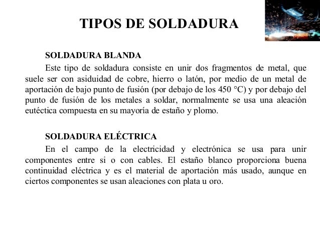 Soldadura for Que es soldadura
