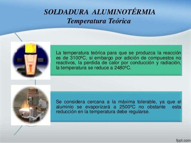 Soldadura aluminotermia for Que es soldadura