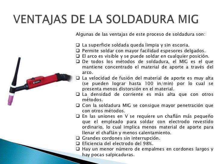 Image gallery soldaduras mig for Que es soldadura